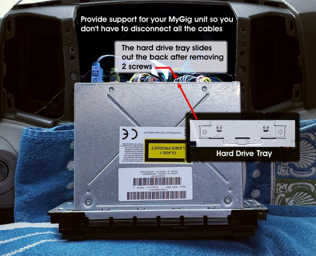 Remove and Replace the MyGig Hard Drive from your RHB